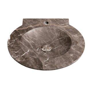 Read Reviews Waterspace Stone Circular Drop-In Bathroom Sink By Ronbow