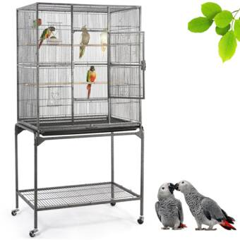 Tucker Murphy Pet Mabel Wrought Iron Flight Cage With Stand Reviews Wayfair
