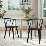 Spindle Windsor Back Arm Chair (Set of 2) by August Grove