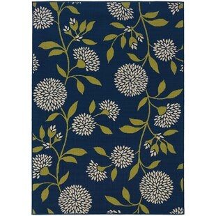 Kaydence Blue/White/Green Indoor/Outdoor Area Rug