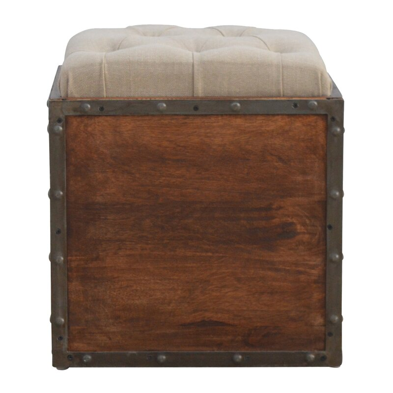 17 Stories Country Style Solid Wood Storage Box