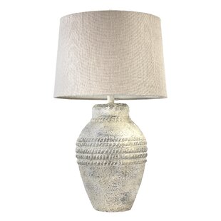 Pagedale Concrete Drum Shade 29 Table Lamp