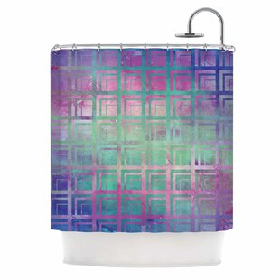 'Tiled Poison' Single Shower Curtain