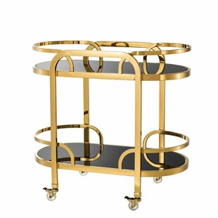 Glass Trolley Bar Cart