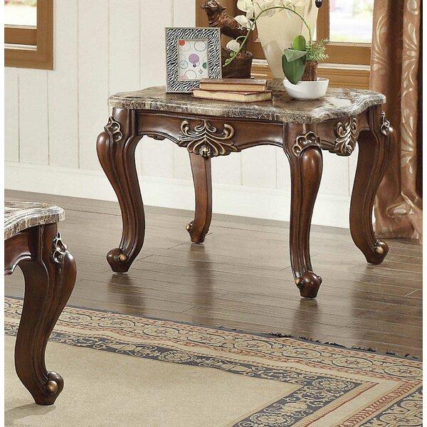Astoria Grand Hedon Marble Top End Table Wayfair