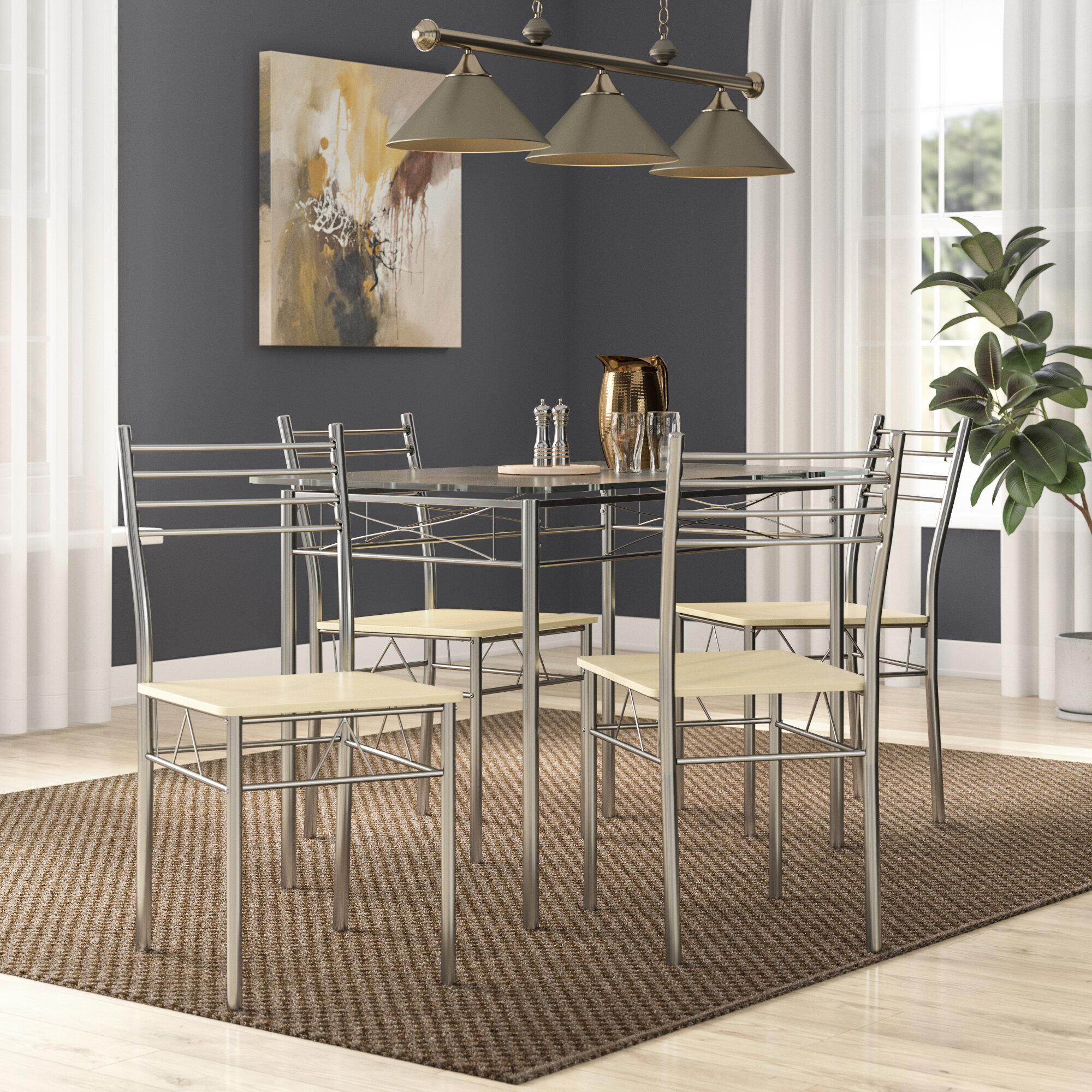 c83fab9cd440 Zipcode Design North Reading 5 Piece Dining Table Set   Reviews ...