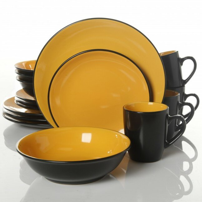 ABCHomeCollection Gibson 16 Piece Dinnerware Set, Service for 4 ...