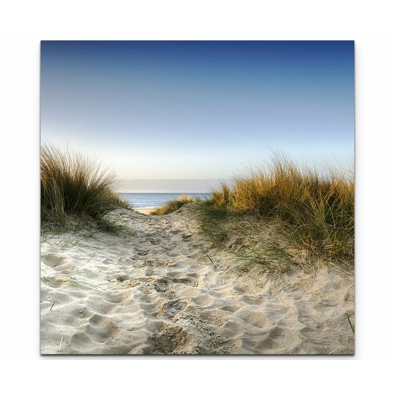 beach path long grass canvas print framed picture wall art sanddunes