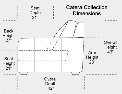 Catera Leather Reclining Sofa