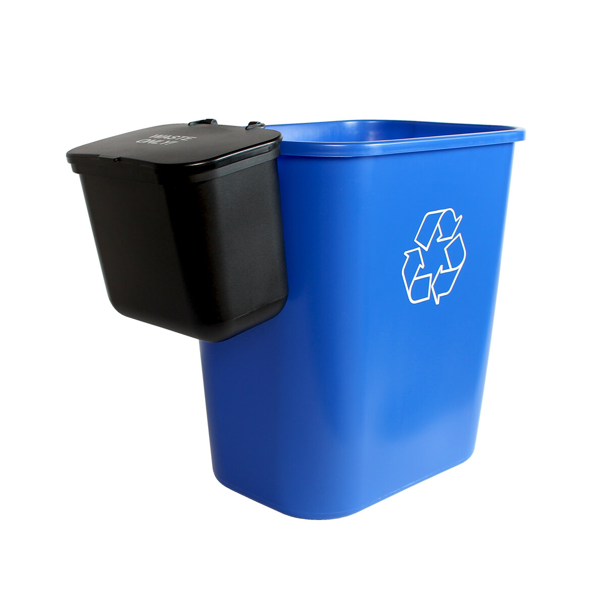 Busch Systems Office Combo Solid Lift 7.75 Gallon 2 Piece Recycling Bin And  Waste Basket Set | Wayfair.ca
