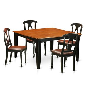 Pilning 5 Piece Wood Dining Set August Grove