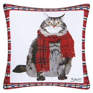 Fergerson Fat Cat Indoor/Outdoor Throw Pillow