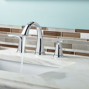 Affordable Lahara Widespread Bathroom Faucet with Drain Assembly and Diamond Seal Technology By Delta