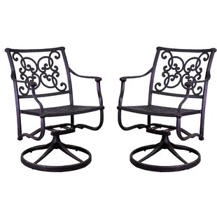Palmhurst Swivel Patio Dining Chair (Set of 2)