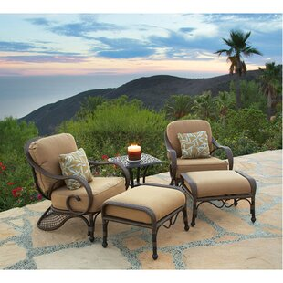 Jared 5 Piece Deep Sunbrella Seating Group with Cushions