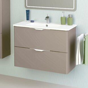 Brinkley Modern 32'' Wall-Mounted Single Bathroom Vanity Set by Wrought Studio