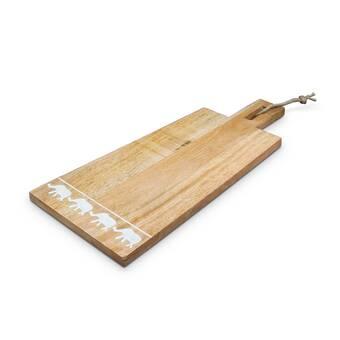 Red Barrel Studio Defreitas Handle Natural Cherry Carve Cheese Board And Platter Wayfair
