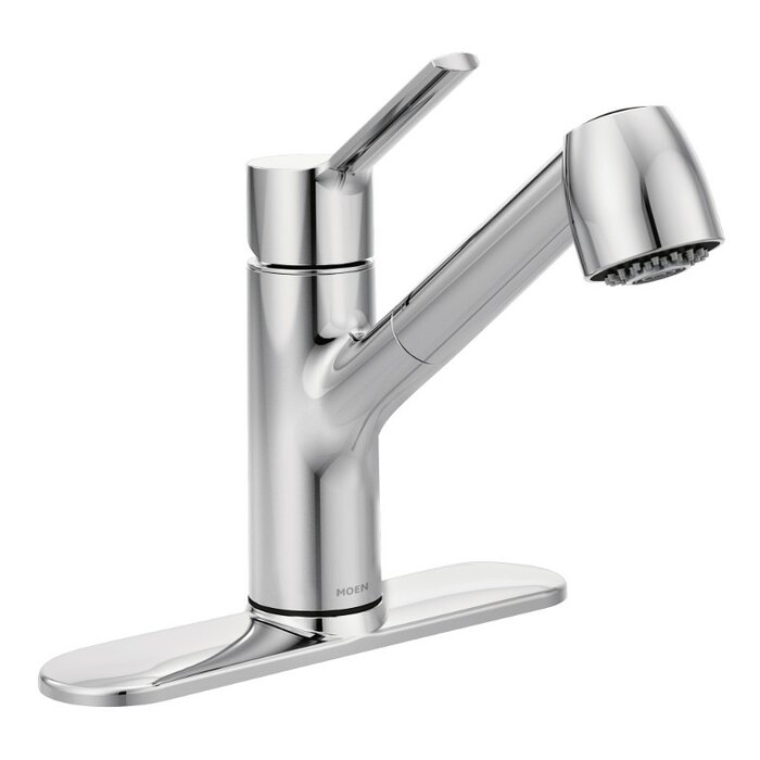 Method Pull Out Single Handle Kitchen Faucet With Duralock™ And Power Clean™