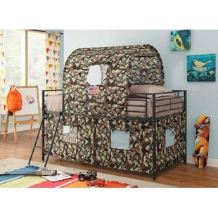 Zebediah Camouflage Twin Low Loft Bed