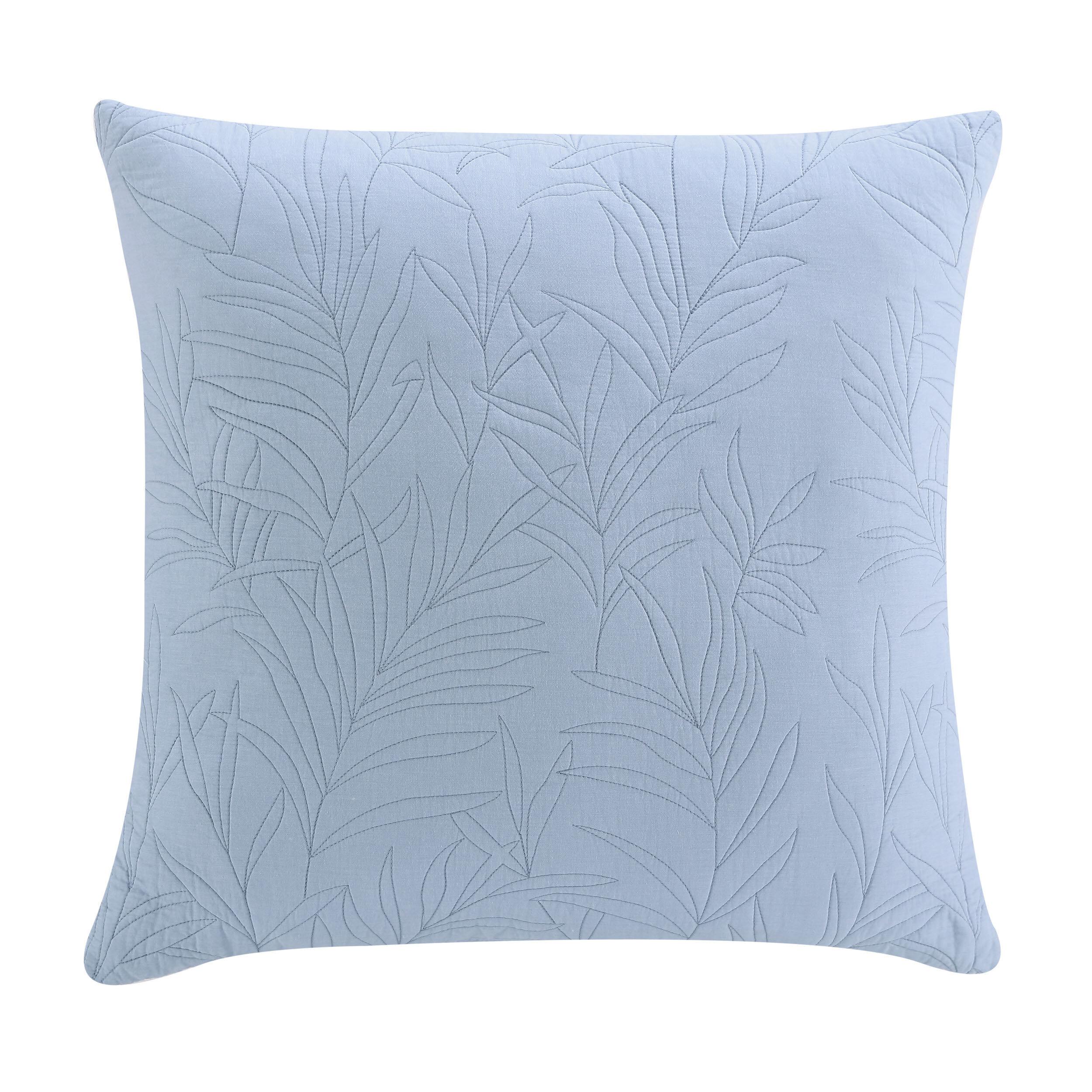 "2 Gray Ivory Rectangular Medallion Pattern 21/"" Square Zippered Pillow Cover Sham"