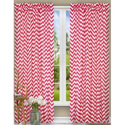 "Reston Single Curtain Panel Ellis Curtain Curtain Color: Pink, Size per Panel: 17"" W x 50"" L"
