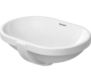 Savings Foster Ceramic Oval Undermount Bathroom Sink with Overflow By Duravit