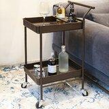 Shipton Metal Bar Cart by Rebrilliant