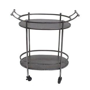 Orianna Oval Bar Cart