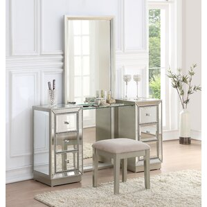 vanity table with mirror and drawers. Claybrooks Storage Vanity Set with Mirror Bedroom  Makeup Vanities Joss Main
