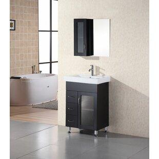 Pratt 24 Single Bathroom Vanity Set with Mirror by dCOR design