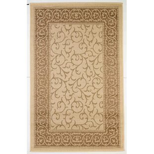 Woods Beige/Gold Indoor/Outdoor Area Rug