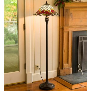Stain glass floor lamps wayfair chesterfield tiffany style stained glass 605 floor lamp aloadofball Choice Image