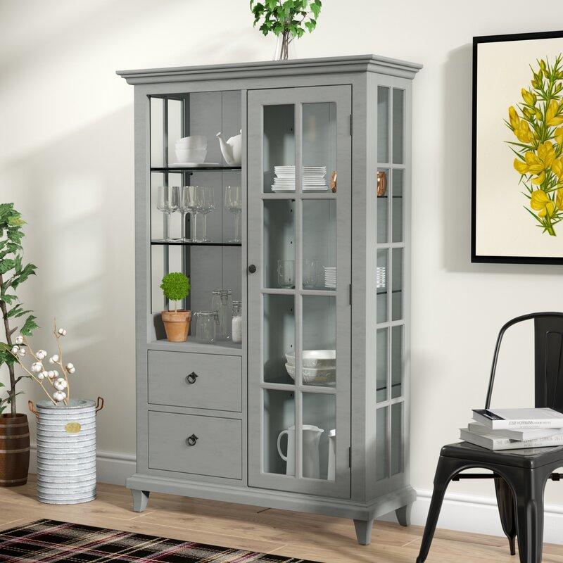 Lefevre Glass Shelf Curio Cabinet