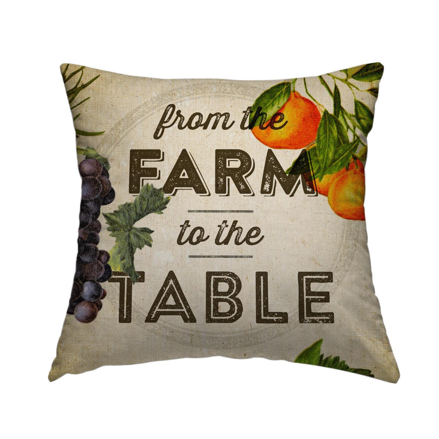 4d3a13db436e East Urban Home Farm to Table Set Throw Pillow