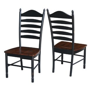 Hallandale Ladderback Solid Wood Dining Chair (Set of 2)