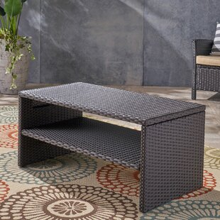 Lundell Outdoor Wicker Coffee Table