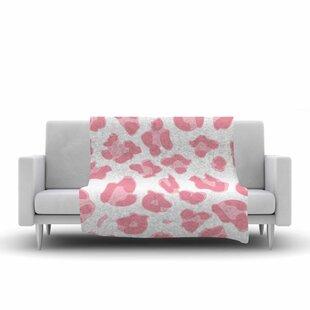 Wildlife Animal Print 2 Digital Fleece Blanket ByEast Urban Home