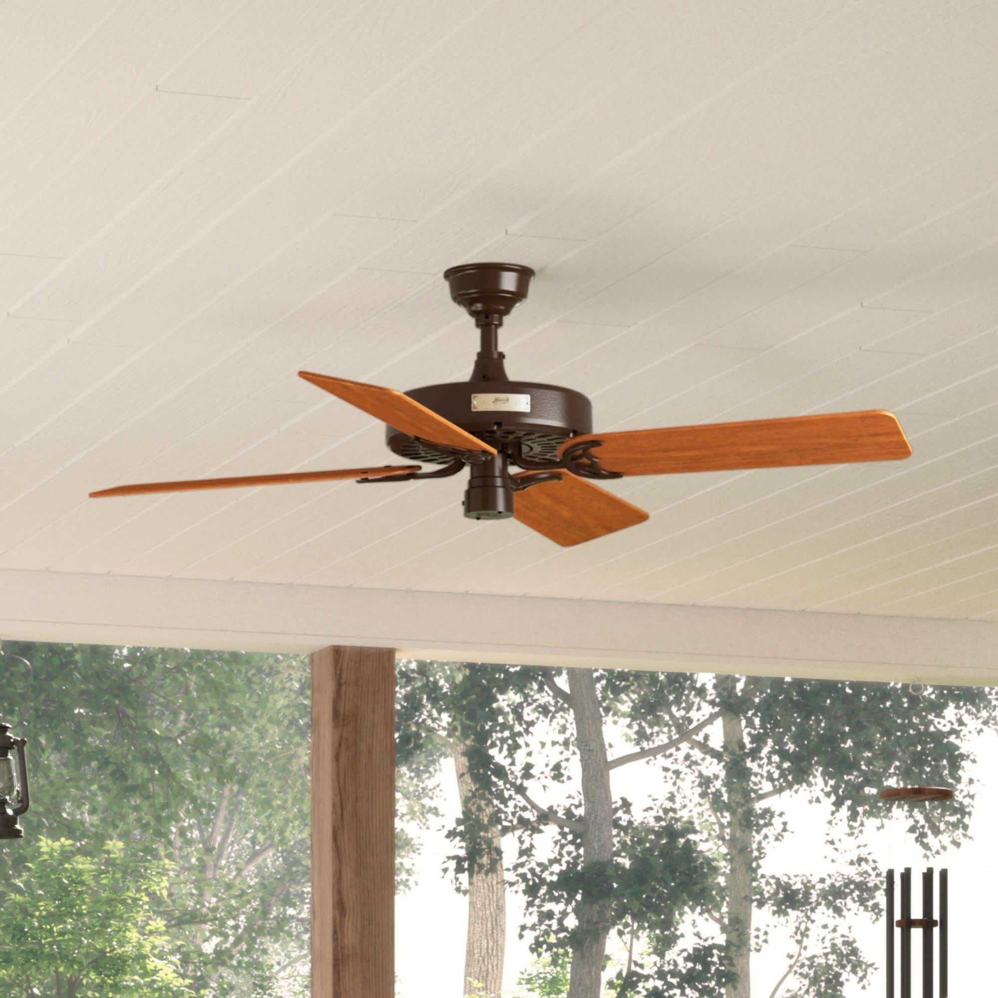 Image of: Hunter Fan 52 Original 5 Blade Standard Ceiling Fan With Pull Chain Reviews Wayfair