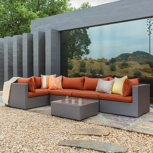Jayne 6 Piece Sectional Seating Group Set with Cushions