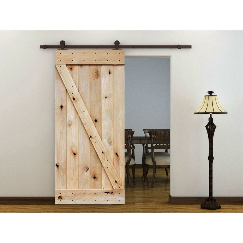Wood Unfinished Interior Barn Door Hardware