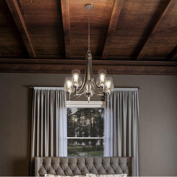 Highland Dunes Haskin 5 Light Shaded Classic Traditional Chandelier Reviews Wayfair