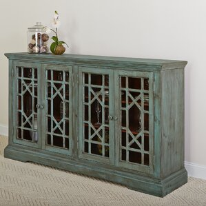 Winslow Eclectic 4 Door Wood Sideboard by Rosecliff Heights