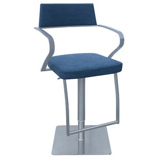 Willette Adjustable Height Swivel Bar Stool Orren Ellis