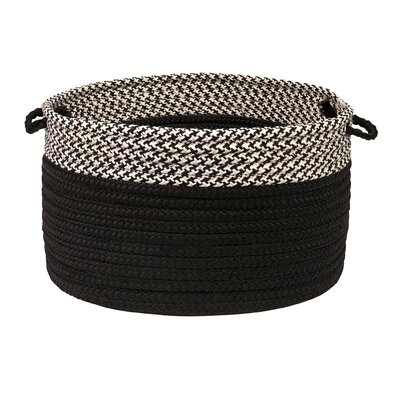 Brayden Studio Ariadne Dipped Basket Size: 12 H x 18 W x 18 D, Color: Black