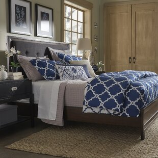 Francesca Linen Tufted Upholstered Panel Bed