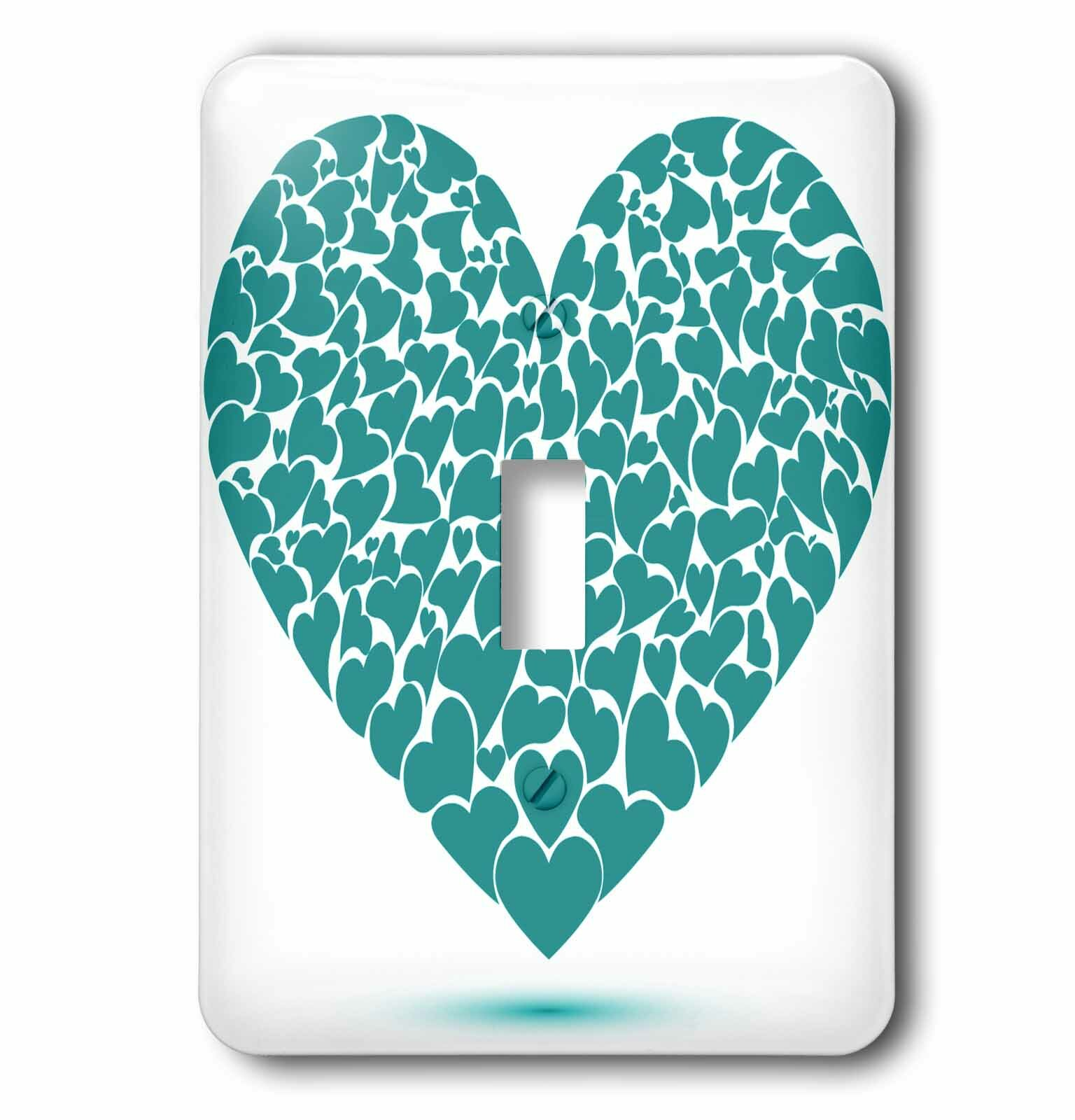 3drose Heart Made Of Smaller Hearts 1 Gang Toggle Light Switch Wall Plate Wayfair