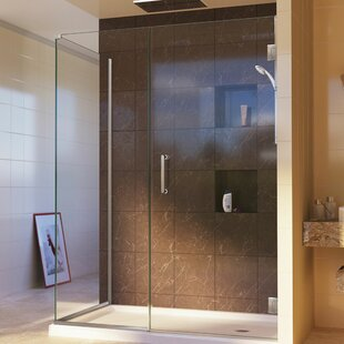 Unidoor Plus 59.5 x 72 Hinged Frameless Shower Door with Clear Max Technology by DreamLine