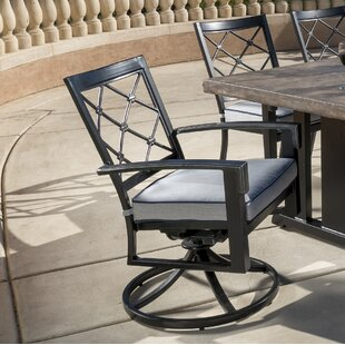Duncombe Swivel Patio Dining Chairs with Cushion