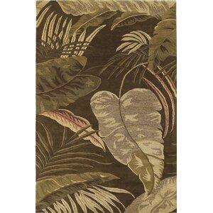 Imala Mocha Rainforest Floral Area Rug