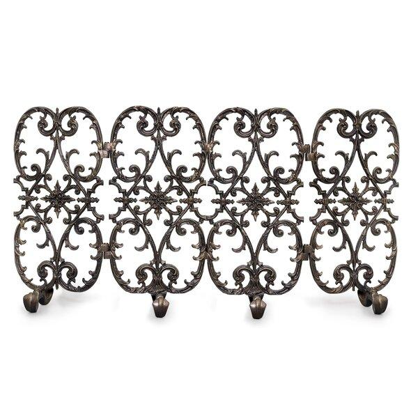 Ornamental Designs Siena 4 Panel Iron Fireplace Screen Wayfair